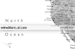 California Map With Cities Personalized Printable World Map Grayscale Watercolor U2013 Blursbyai