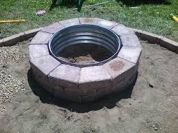 Firepit Plans Attractive Diy Brick Pit