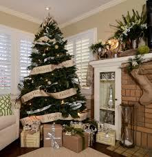christmas stocking tree with merry christmas living room
