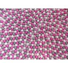 Nepal Felt Ball Rug 140 Cm Felt Ball Rug Handmade In Nepal