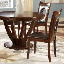 leather dining room sets walker edison furniture company wasatch brown faux leather dining