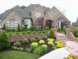 ranch yard landscaping ideas for ranch style homes pictures home