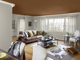 amazing painting colors for living room using brown ceiling paint