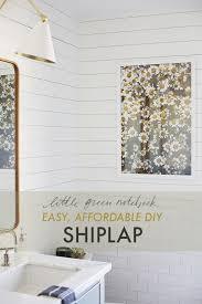 easy affordable shiplap using bender board little green notebook