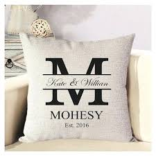 wedding pillows new outdoor monogram pillows and personalized wedding pillow cover
