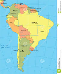 a map of south america political map of south america royalty free stock photo image