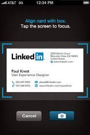 Business Card Capture App Cardmunch Business Card Reader App For Ios