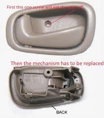 2002 Toyota Camry Interior Door Handle Toyota Corolla Questions How To Open Front Door Ds With Both