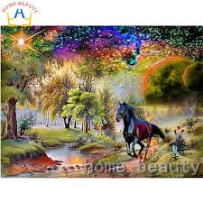 online shop 3d square drill full diamond paint painting picture of