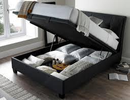 kaydian accent slate fabric ultra lift ottoman storage bed 5ft