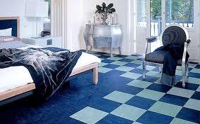 modern bedroom with black and white linoleum flooring flooring