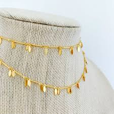 gold cross choker necklace images Necklaces alv jewels