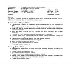 10 project coordinator job description templates free sample