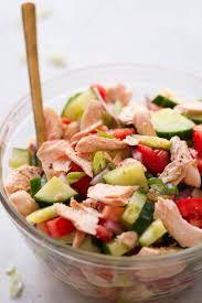 Easy Salad Recipe by Salmon Chopped Salad Recipe Primavera Kitchen