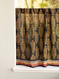 Black Gold Curtains Black Turkish Cafe Curtain Designer Kitchen Tier Curtains