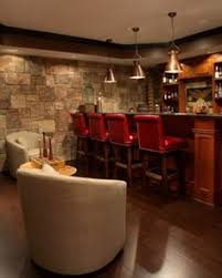 design basement love thus basement look great wood treatment on tv wall rrevere
