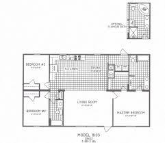 Open Concept Floor Plans by Open Floor Plans For Homes With Modern 3 Bedroom Floor Plan C 8103