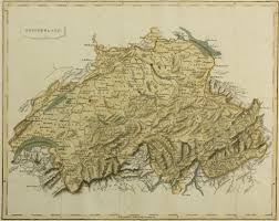 Swiss Map Blackie Map Of Switzerland 1860
