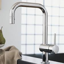 minta single handle pull down kitchen faucet touch on kitchen
