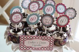 60th birthday party favors the larson lingo a 60th birthday party cupcakes