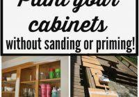 Staining Kitchen Cabinets Without Sanding How To Stain Kitchen Cabinets Without Sanding Best Home