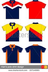 polo shirt design vector template stock vector 245912521