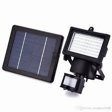 solar powered outdoor light bulbs solar led floodlights powered outdoor led garden lights 60 leds pir