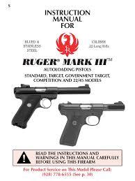 ruger mark iii autoloading pistol manual magazine firearms