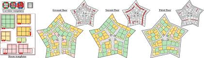 pentagon floor plan computing layouts with deformable templates outstanding pentagon