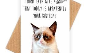 Meme Birthday Card - cat birthday card printable new grumpy cat funny happy birthday card