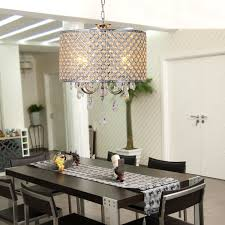 drum light chandelier lightinthebox drum chandelier crystal modern 4 lights modern home