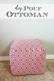 diy pouf ottoman tutorial and lessons learned pretty handy