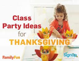 thanksgiving class ideas
