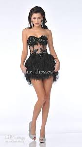wholesale 2012 sequin sweetheart feather cocktail dresses