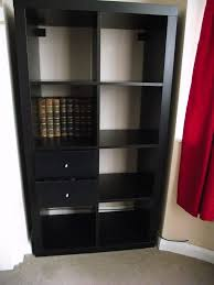 Using 2 Ikea Expedit Bookcases by Ikea Expedit Kallax 8 Cube Storage Unit Black Brown With 2 Drawer