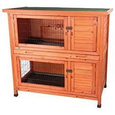 Rabbit Hutch For Multiple Rabbits Amazon Com Kaytee Rabbit Hutch 2 Story 48 Inch Wide Garden