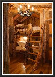 Best Rustic Bunk Beds Images On Pinterest  Beds - Log bunk beds