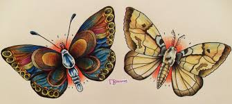 the butterfly and the moth by thn fiction on deviantart