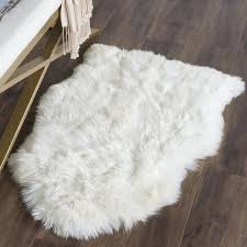 Safavieh Faux Sheepskin Rug Allison Woven Faux Sheepskin White Area Rug Reviews Joss