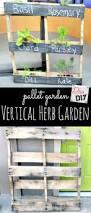 Diy Vertical Herb Garden How To Make An Easy Pallet Garden