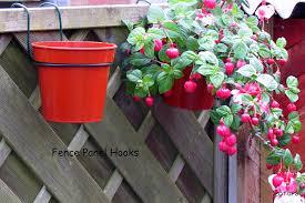 Flower Pot Holders For Fence - fence hooks 6 plant pot hangers to hang 5