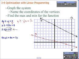 algebra ii 3 4 optimization and linear programming youtube