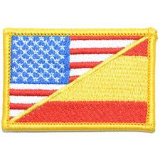 Spain Flags Mexican American Flag Patch 2x3 Inch Tactical Gear Junkie