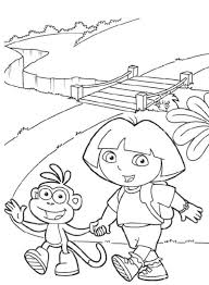 boots dora coloring pages free cartoon coloring pages