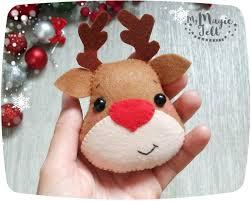 christmas ornaments felt rudolph reindeer ornament christmas felt