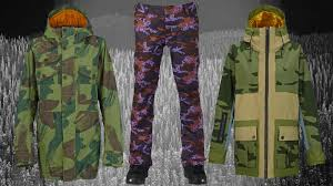 the best camo snowboard jackets and pants whitelin