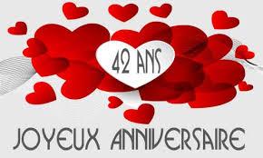 42 ans de mariage carte anniversaire mariage 42 ans bouquet