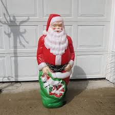 outdoor plastic lighted santa claus santas collection on ebay
