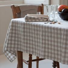 table cloth check linen tablecloth washed linen inchyra home