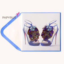 papyrus purple shoes birthday card grocery gateway